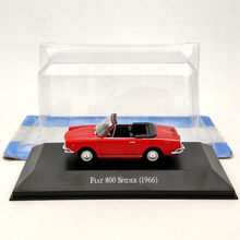 IXO 1/43 Für Fiat 800 Spinne 1966 Diecast Modelle Limited Edition Sammlung Auto Spielzeug Geschenk Rot