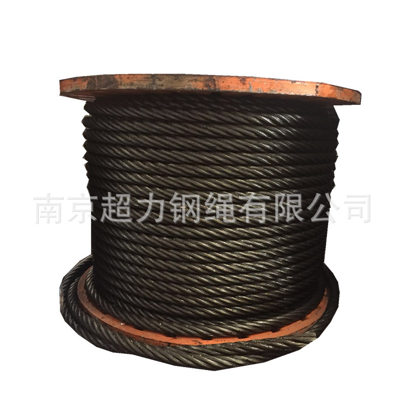 Tower Crane Wire Rope Linen Core 6X19 + FC Lifting Oil Thread