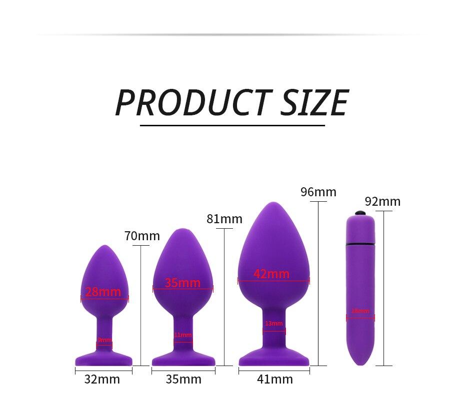 4 Color Butt Plug Anal Diamond