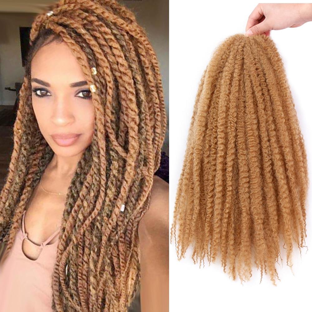 Оникс 18 дюймов марли вязание крючком косички волосы чистый цвет афро кудрявые синтетические косички волосы для наращивания для женщин| |   | АлиЭкспресс