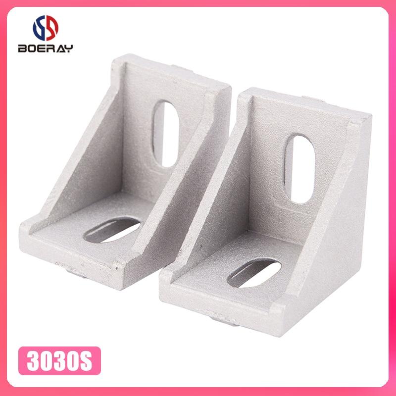 10pcs 3030 corner fitting angle aluminum 30 x 30 L connector bracket fastener