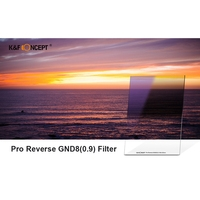 K&F Concept Reverse Neutral Density Filter 100X150Mm 0.9 Graduated Filter Multi Coated Compatible with Cokin Z Holder