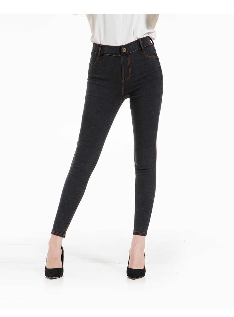 Women Spring Pencil Pants Denim Jeans Female Skinny Stretch Solid Jeans Street Style  Ankle Length Trousers Plus Size 5xL