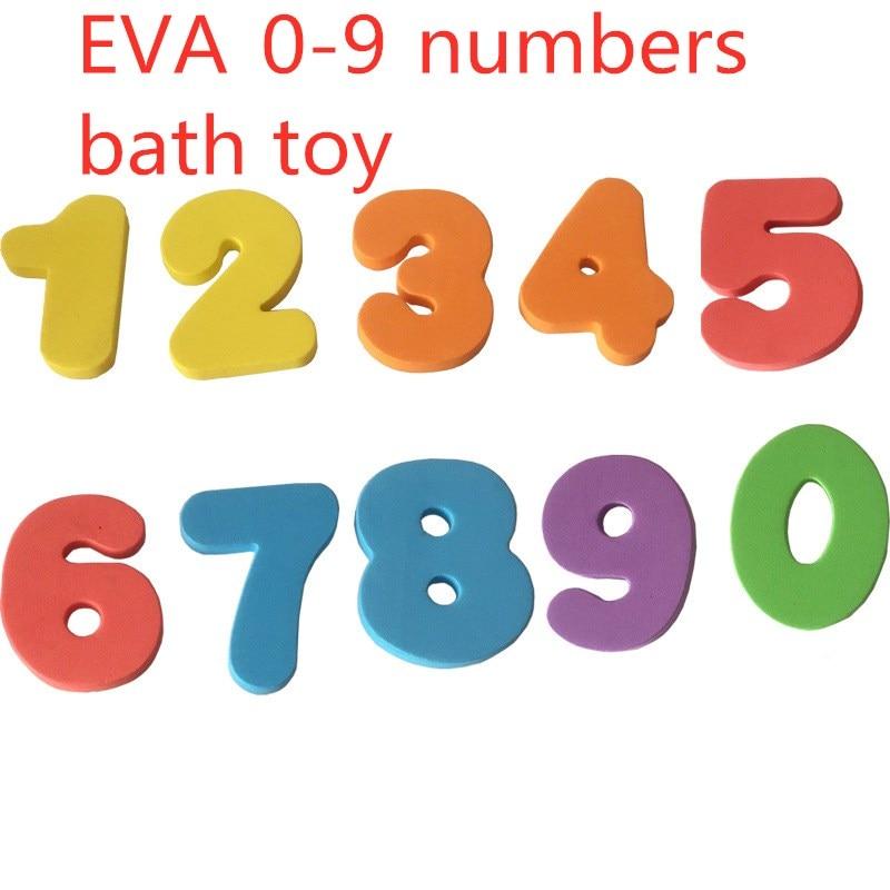 10pcs/set Bath Toy 0-9 Alphanumeric Digital Puzzle Soft EVA Foam Numbers Kids Water Early Educational Bathroom Baby Toys