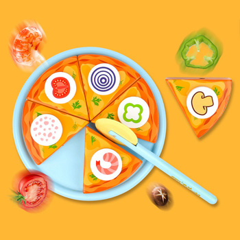 Children Pizza Wooden Toys Food Cooking Simulation Tableware Children Kitchen Pretend Play House Toy Fruit Vegetable Gifts free shipping magnetic simulation fruit well send to receive bag house wooden toys