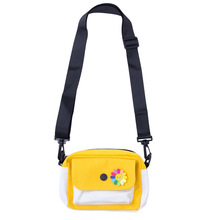 Mini girls small square bag cute wild Messenger student color matching canvas shoulder
