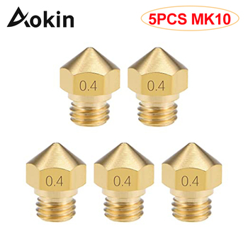 5PC MK10 Nozzle for 3D Printer 0.2mm 0.3mm 0.4mm 0.6mm 0.8mm Copper Head Brass M7 Threaded 1.75mm Filament Extruder Nozzle 1pcs mk10 reprap makerbot2 m7 brass stainless steel nozzle 0 2 0 3 0 4 0 5 0 6 0 7 0 8 1 0 2 0mm for 1 75mm filament 3d printer