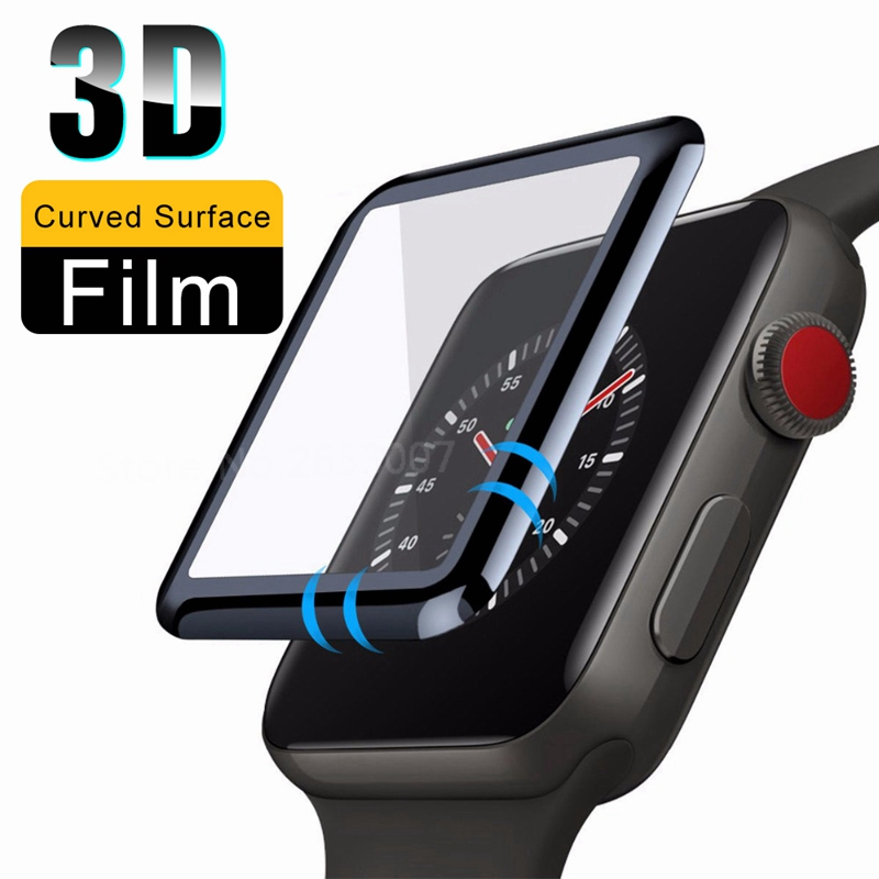 3D Tempered Glass For Apple Watch Series 5 Screen Protector Protective Film For Iwatch 44 40mm Glass Case For IPhone 11 Pro Max