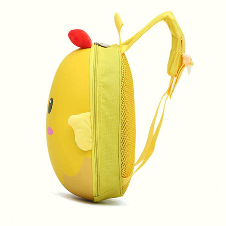 Chickens School Bag 2019 New Style Kindergarten Cartoon Backpack Children Waterproof Eggshell Bag Backpack Customizable