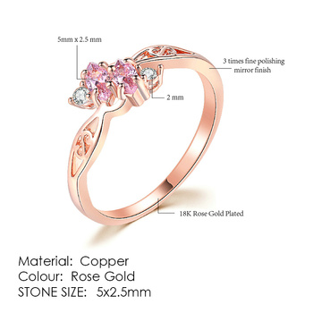 ZHOUYANG Ring For Women Simple Style Cubic Zirconia Wedding Ring Light Gold Color Fashion Jewelry KBR103 7