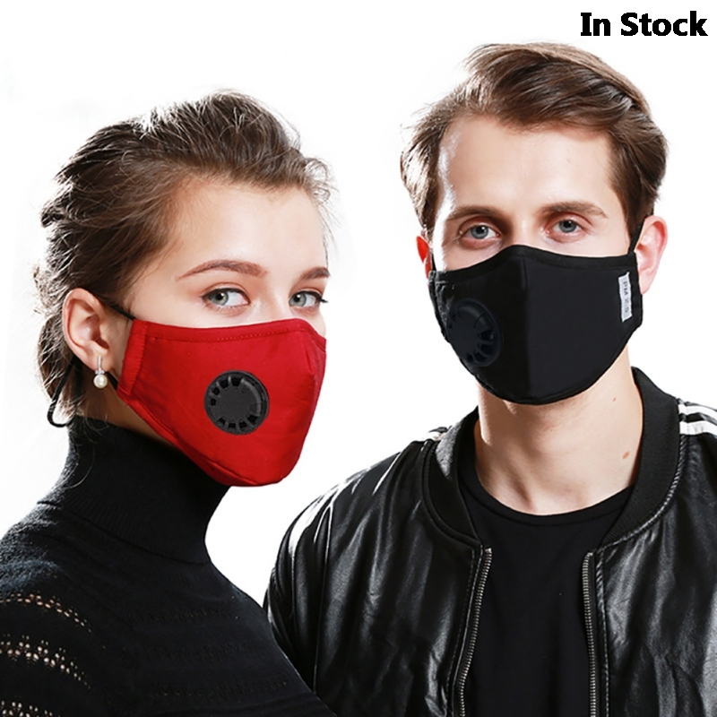 Dust PM2.5 Mouth Mask N95 With 2 Replaceable Filters Anti Pollution Breathable Face Mask Cotton Washable Respirator Mouth-muffle