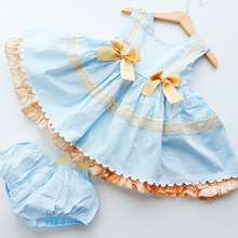 2020 Spanish Childrens Clothing Kids Dresses for Girls Lace Embroidery Princess Birthday Dress Baby Communion Girl Frocks Dress