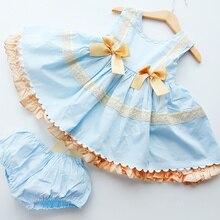 2020 spagnolo Per Bambini Abbigliamento Bambini Vestiti per le Ragazze Del Merletto Del Ricamo Della Principessa del Vestito di Compleanno Del Bambino Comunione Ragazza Abiti del Vestito