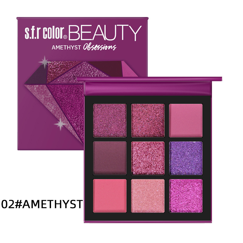 Makeup Metal matte Eyeshadow Pallete makeup brushes 9 Color Shimmer Pigmented Eye Shadow Palette Make up Palette maquillage 2