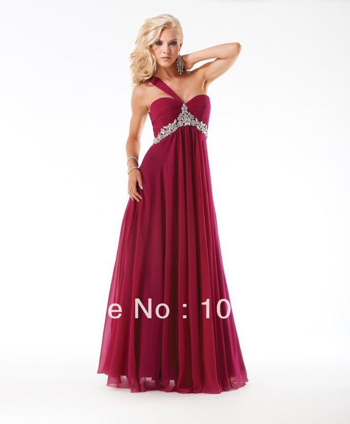 Free Shipping Fashion 2018 Best Seller New Style Sexy Brides Custom Crystal Pleat Dinner Party Prom Gown Bridesmaid Dresses