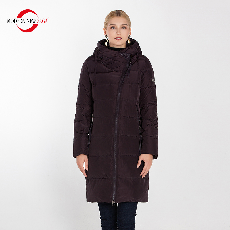 MODERN NEW SAGA 2019 Winter Long Coat Women Hooded Warm Parkas Female Ladies Outwear New Collection & Jacket