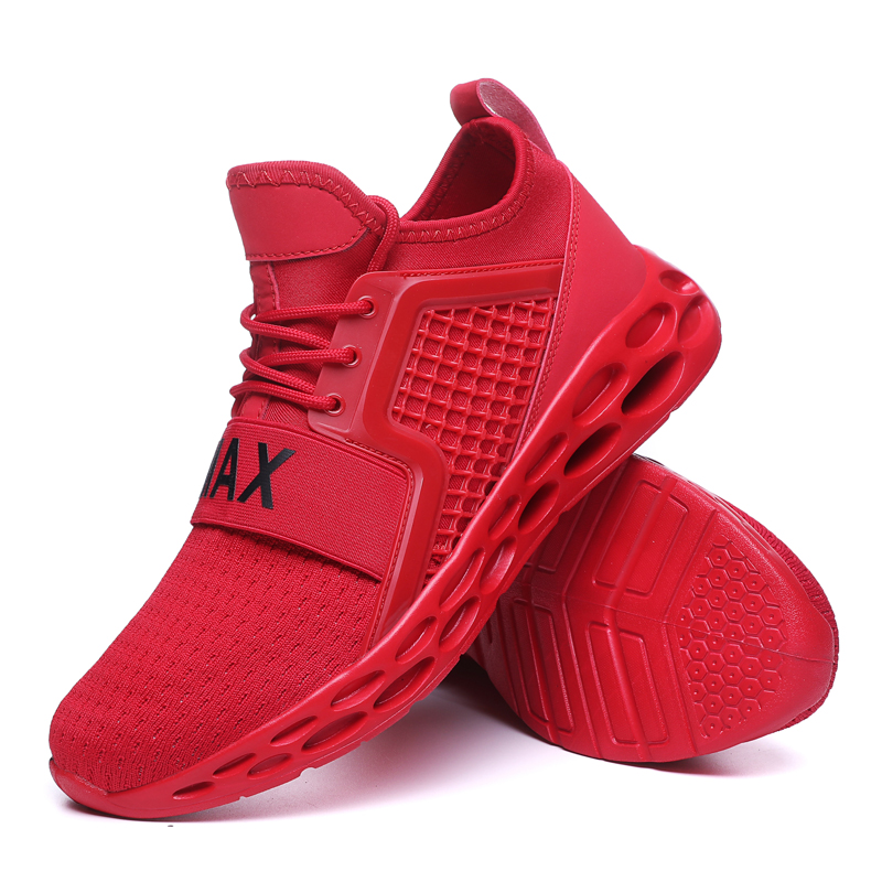 New Breathablemen running shoes  Air Mesh Men Running Shoes Jogging Gym Training Athletic Outdoor Sport Shoes Red Blue Sneakers