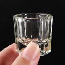 Acrylic Nail Crystal Glass Dappen Dish Bowl Cup With Cap Liquid Powder Manicure Nail Art Tools Acrylic Powder Liquid Cups