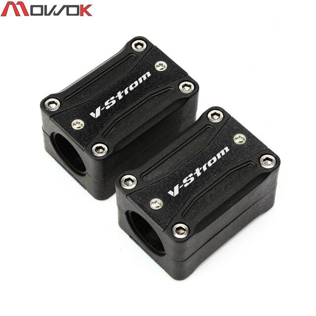 Para SUZUKI v-strom 650/DL650 1000/DL1000 250/DL250 protección del parachoques del motor de la motocicleta decoración de la barra de choque del bloque decorativo