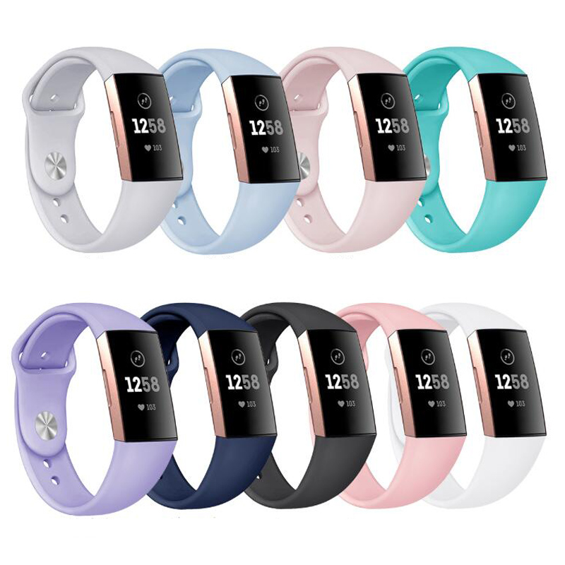 Wristband Bracelet Wrist Strap For Fitbit Charge 3 Smartwatch Breathable Silicone Bracelet Strap Band For Fit Bit Charge3 Watch