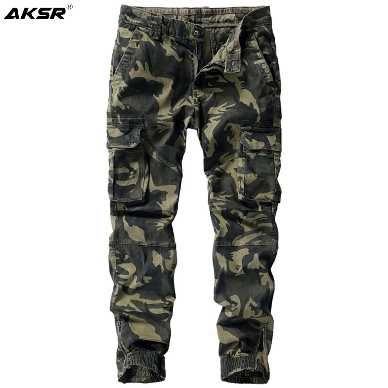 Men's Joggers Pants Camouflage Military Cargo Joggers Sweatpants Men Casual Tactical Harem Pants Streetwear Trousers Plus Size