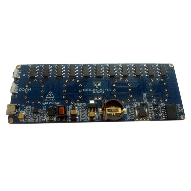 DIY Glow Tube Clock Suite Module IN12 Tube Beautiful Color IN12 PCBA, No Display USB Port Supply 5V