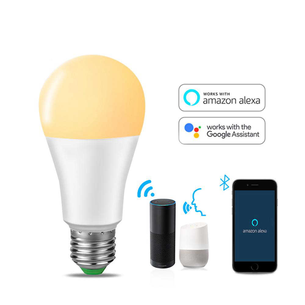 Lampada intelligente WIFI App di Controllo di Voce di Vita Intelligente Lampadine Compatibile Amazon Alexa e Google Casa 15W Dimmable Ha Condotto La Luce per la Camera Da Letto