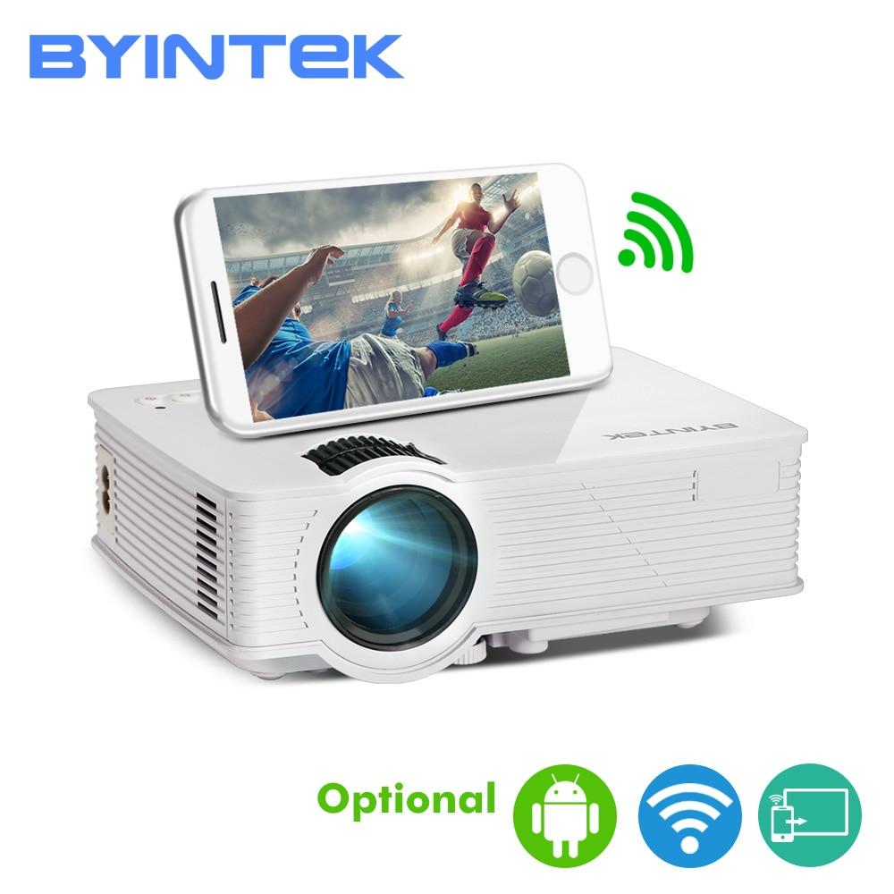 BYINTEK SKY BT140/BT140plus/BT140android Mini projecteur LED HD Home cinéma (en option: affichage sans fil pour Smartphone Iphone)