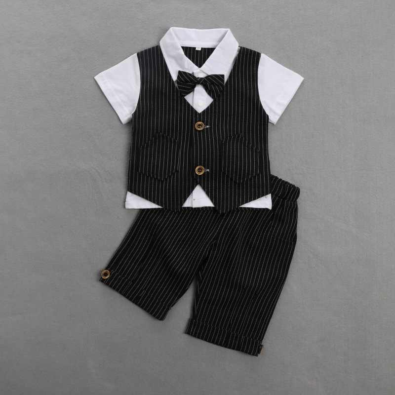 Baby Jongen Blazer Zomer Jongens Pak Set Formele Slijtage Baby Blazers Katoen Beste Ontwerp Pak voor Jongen Kostuum Chlidren Kleding sets