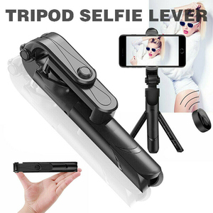 Image 2 - Nieuwe Verbeterde 4 In 1 Draadloze Bluetooth Selfie Stok Universele Uitschuifbare Statief Met Remote Shutter DU55
