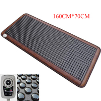 Health care heating jade cushion Natural tourmaline mat physical therapy mat heated jade mattress available 220V