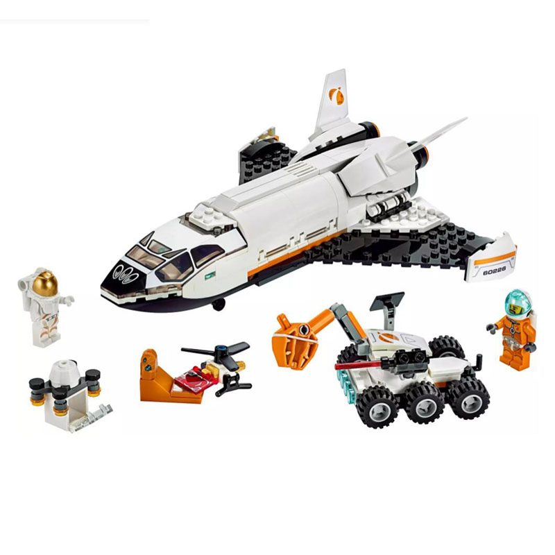 In Stock J30001 City Series Space Mars Exploration Space Shuttle Building Blocks 273pcs Brick Education Toys Compatible 60226