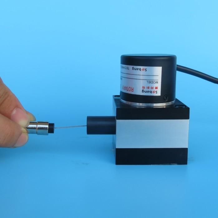 Pull Line Displacement Sensor Linear Encoder Gate Control Stage Lift 0-10V/4-20mA Pulse Output
