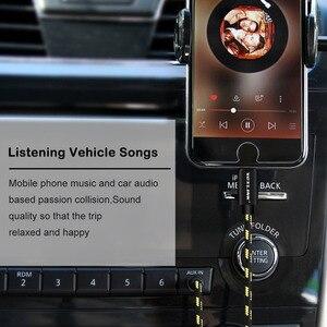 Image 4 - Voxlink aux cabo do carro para iphone x xs xr 8 7 plus 1 m/3ft 8 pinos para 3.5mm macho jack cabo de áudio para iphone 7 6 alto falante fone de ouvido