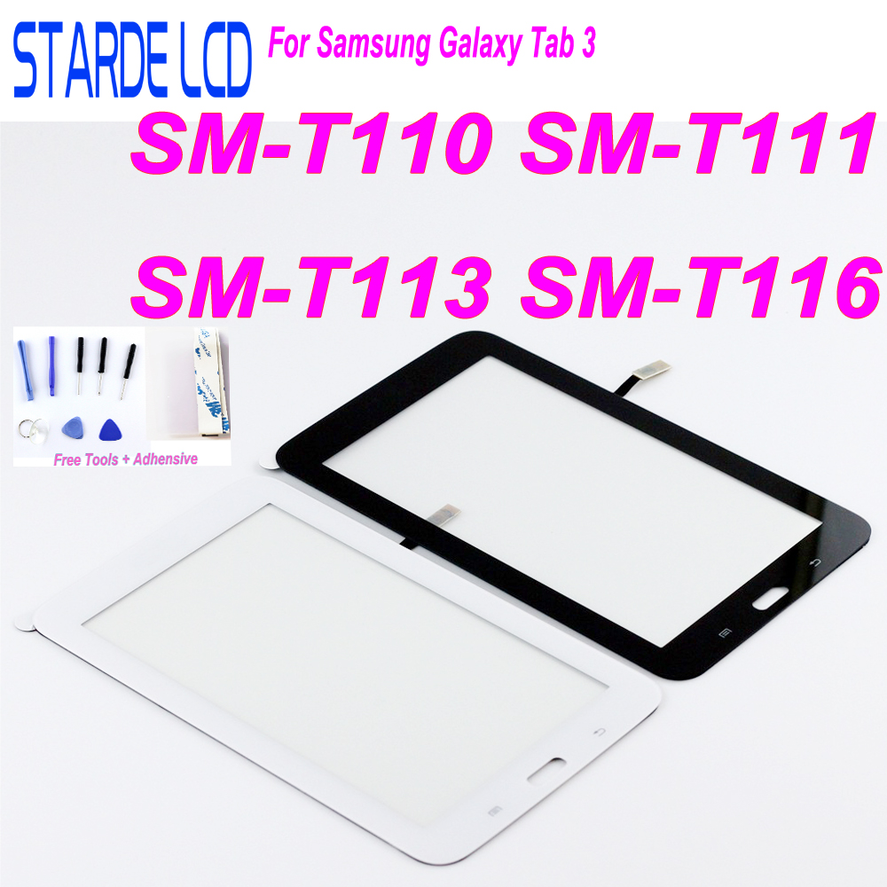 New For Samsung Galaxy Tab 3 SM T110 SM T111 SM T113 SM T116 Touch Screen Panel Digitizer T110 T111 T113 T116 Assembly in Tablet LCDs Panels from Computer Office