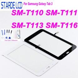 Nowy dla Samsung Galaxy Tab 3 SM-T110 SM-T111 SM-T113 SM-T116 Panel dotykowy Digitizer T110 T111 T113 T116 montaż