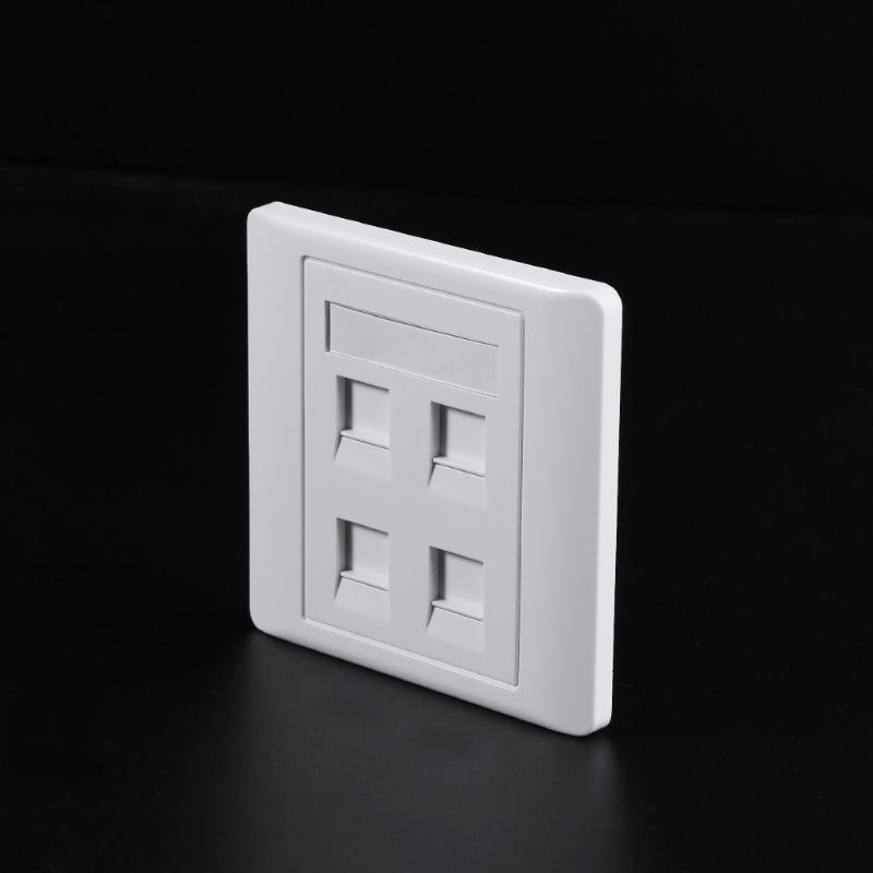 86 Type White Faceplate Wall Plate Socket Dual Ports Network LAN Telephone Panel RJ45 Plug