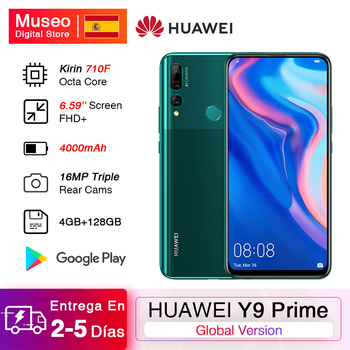 Global Version HUAWEI Y9 Prime 2019 Smartphone 4GB 128GB Kirin 710F 6.59'' 16MP AI Triple Rear Cameras 16MP Pop Up Front Camera