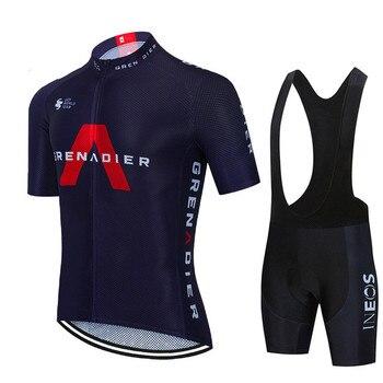 2021 nova ineos pro equipe de bicicleta manga curta maillot ciclismo men camisa ciclismo verão respirável conjuntos roupas 1