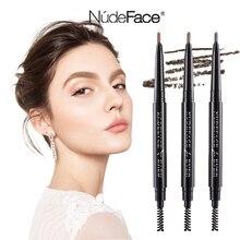 Women eyebrow pencil beauty slim cosmetics make up Natural Long Lasting Waterproof Paint Tattoo Brown Eyebrow Pencil brush