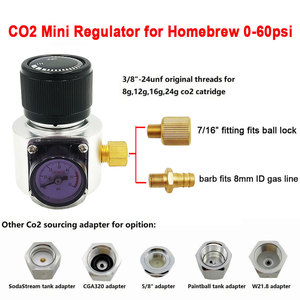 Image 1 - Co2 Mini Gas Regulator,Sodastream,Paintball,CGA320,W21.8 Tank,Disposable Cartridge Adapter for Homebrew Beer Cornelius/Corny Keg