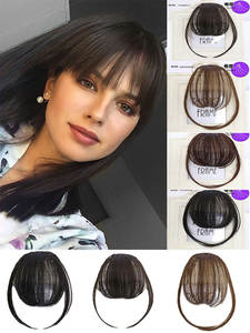 LVHAN Hair-Extension Light Synthetic-Wig Brown Pure-Bangs Black Natural Dark High-Temperature-Fiber