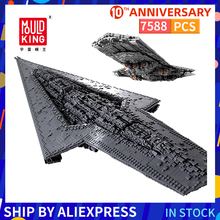 Mould King 7588 Pieces Empire Star Destroyer Building Blocks Starship Galaxy Wars Ship Bricks Set Toys lepin 05027 the imperial executor super star destroyer wars starship set 10030 building blocks bricks children toy legoinglys