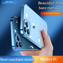 Suitable for iPhone12 11 X XS electroplating all-inclusive transparent mobile phone case protective cover with four sides sof