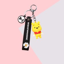 2020 New Cartoon Doll Keychains Classic Silicone Daisy Belt Key Chain Student Couple Gift Key Chain Cartoon Bag Pendant Key Ring 2020 new key chain duck key chain mickey daisy key ring pendant student schoolbag pendant the best gift