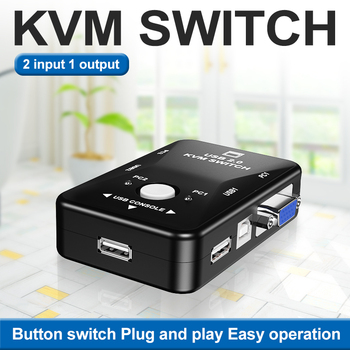 2 port usb kvm switch vga splitter schalter adapter drucker verbinden tastatur maus 2 computer verwenden 1 monitor with kabel OULLX KVM Switch vga Cable High Quality USB 2.0 vga splitter Box for USB Key keyboard mouse monitor adapter usb Printer switch