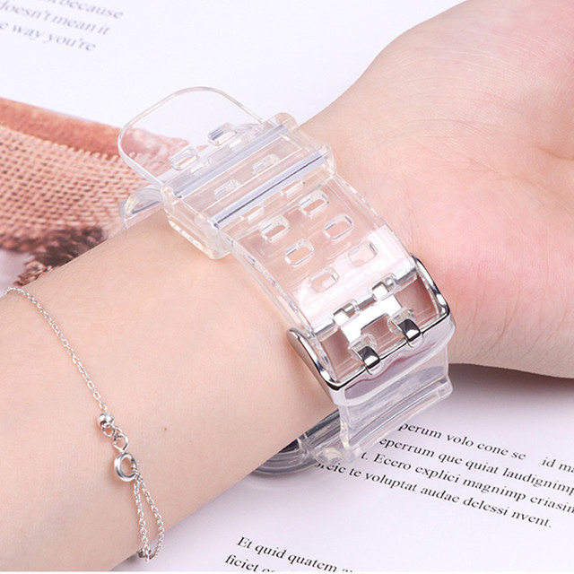 Case+strap for apple watch band 40mm 44mm 42mm/38mm accessories soft silicone transparent bracelet iwatch 5 4 3 6 se