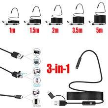 5,5 мм инструмент для чистки ушей бороскоп портативный эндоскоп 3 в 1 IP67 30 Вт мониторинг фотографий инспекционные компьютеры USB видео в режиме реального времени