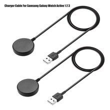 2 Pack 1M Charger ใช้งานร่วมกับ Samsung Galaxy นาฬิกา Active 3สมาร์ทนาฬิกา USB ชาร์จสายเคเบิลอะแดปเตอร์สำหรับ samsung Galaxy นาฬิกา
