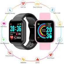 D20Pro Bluetooth Smart Watch Y68 Fitness Tracker bracciale pedometro bracciale impermeabile frequenza cardiaca pressione sanguigna Smart Band